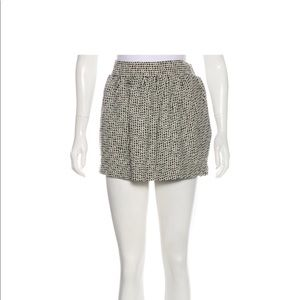 DVF tweed mini skirt with pockets sz 4